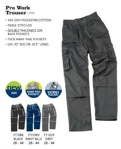 KNEE/PAD TROUSERS