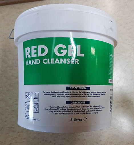 RED GEL HAND CLEANER